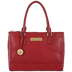Pure Luxuries London - Red 'Jodie' fine leather bag - Deluxe Collection