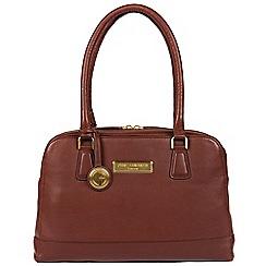 Pure Luxuries London - Auburn brown 'Fleur' soft leather handbag  Deluxe Collection