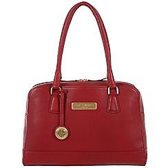 Pure Luxuries London - Red 'Fleur' fine leather bag - Deluxe Collection