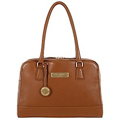 Pure Luxuries London - Tan 'Fleur' fine leather bag - Deluxe Collection
