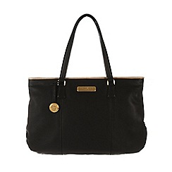 Pure Luxuries London - Black and champagne trim 'Jemima' leather bag - Deluxe Collection