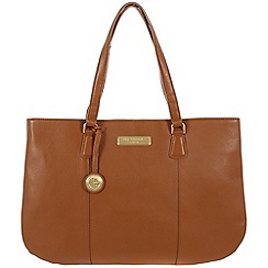 Pure Luxuries London - Tan 'Jemima' leather bag - Deluxe Collection