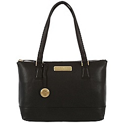 Pure Luxuries London - Black 'Freya' fine leather bag - Deluxe Collection