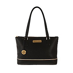 Pure Luxuries London - Black and champagne trim leather bag - Deluxe Collection