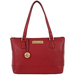 Pure Luxuries London - Red 'Freya' fine leather bag - Deluxe Collection