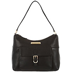Pure Luxuries London - Black 'Cherry' leather bag - Deluxe Collection