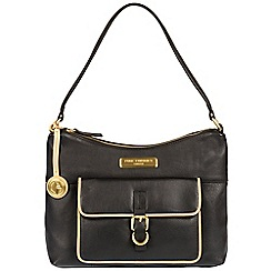 Pure Luxuries London - Black and champagne trim 'Cherry' soft leather handbag - Deluxe Collection