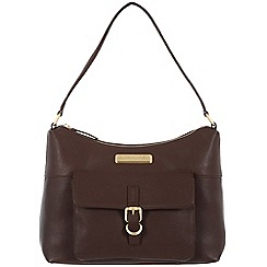 Pure Luxuries London - Brown 'Cherry' leather bag - Deluxe Collection