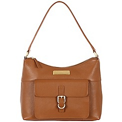 Pure Luxuries London - Tan 'Cherry' fine leather bag - Deluxe Collection