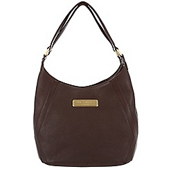 Pure Luxuries London - Brown 'Catriona' fine leather bag - Deluxe Collection