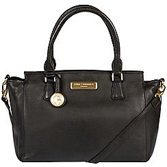 Pure Luxuries London - Black 'Jasmine' soft leather handbag  Deluxe Collection