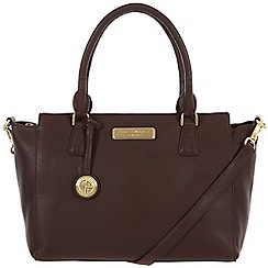 Pure Luxuries London - Brown 'Jasmine' leather bag - Deluxe Collection