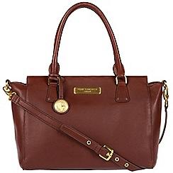 Pure Luxuries London - Auburn brown 'Jasmine' soft leather handbag  Deluxe Collection
