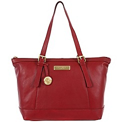 Pure Luxuries London - Red 'Blossom' leather bag - Deluxe Collection
