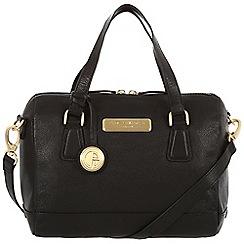 Pure Luxuries London - Black 'Dahlia' fine leather bag - Deluxe Collection
