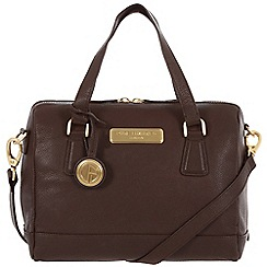 Pure Luxuries London - Brown 'Dahlia' fine leather bag - Deluxe Collection