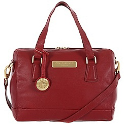 Pure Luxuries London - Red 'Dahlia' fine leather bag - Deluxe Collection