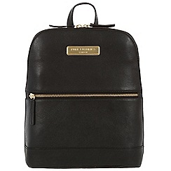 Pure Luxuries London - Black 'Ava' leather backpack - Deluxe Collection