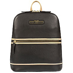 Pure Luxuries London - Black and champagne trim 'Ava' cowhide leather backpack - Deluxe Collection