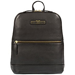 Pure Luxuries London - Black 'Ava' cowhide leather backpack - Deluxe Collection