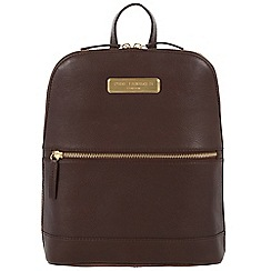 Pure Luxuries London - Brown 'Ava' leather backpack - Deluxe Collection