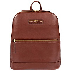Pure Luxuries London - Auburn brown 'Ava' cowhide leather backpack - Deluxe Collection