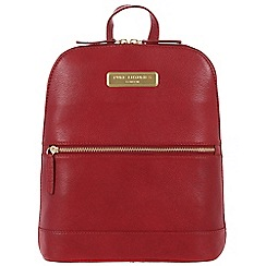 Pure Luxuries London - Red 'Ava' leather backpack - Deluxe Collection