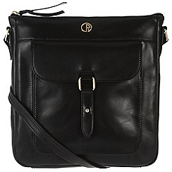 Pure Luxuries London - Black 'Azalea' fine leather cross body bag
