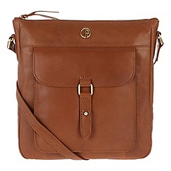 Pure Luxuries London - Nutmeg 'Azalea' fine leather cross body bag