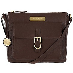Pure Luxuries London - Brown 'Finola' fine leather bag - Deluxe Collection