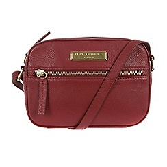 Pure Luxuries London - Red 'Gwyneth' fine leather small evening bag - Deluxe Collection