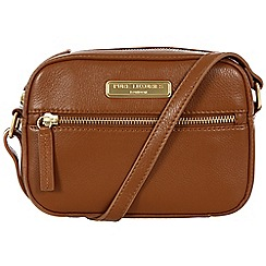 Pure Luxuries London - Tan 'Gwyneth' fine leather small evening bag - Deluxe Collection