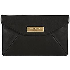 Pure Luxuries London - Black 'Kayla' leather clutch - Deluxe Collection