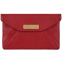 Pure Luxuries London - Red 'Kayla' leather clutch - Deluxe Collection