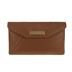 Pure Luxuries London - Tan fine leather clutch - Deluxe Collection
