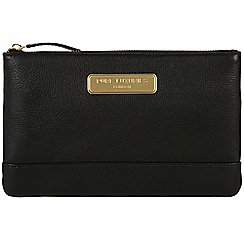 Pure Luxuries London - Black 'Mia' leather clutch - Deluxe Collection