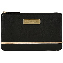 Pure Luxuries London - Black and champagne trim leather clutch - Deluxe Collection