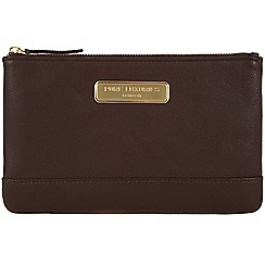 Pure Luxuries London - Brown 'Mia' leather clutch - Deluxe Collection