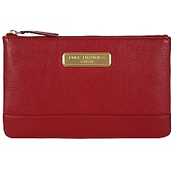 Pure Luxuries London - Red 'Mia' leather clutch - Deluxe Collection