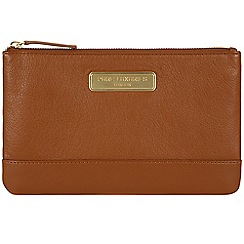 Pure Luxuries London - Tan 'Mia' leather clutch - Deluxe Collection