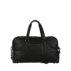 Pure Luxuries London - Black 'Drake' natural leather holdall