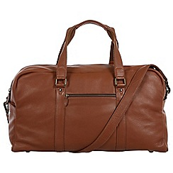 Pure Luxuries London - Chestnut 'Drake' natural leather holdall