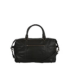 Pure Luxuries London - Black 'Mallory' natural leather holdall