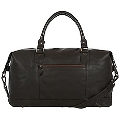 Pure Luxuries London - Brown 'Mallory' natural leather holdall