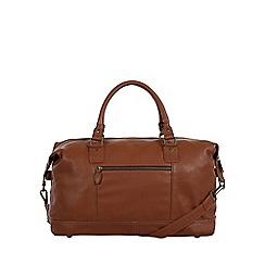Pure Luxuries London - Chestnut 'Mallory' natural leather holdall