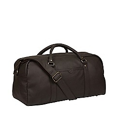 Pure Luxuries London - Brown 'Shackleton' leather holdall