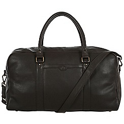 Pure Luxuries London - Brown 'Shackleton' natural leather holdall
