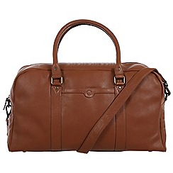 Pure Luxuries London - Chestnut 'Shackleton' natural leather holdall