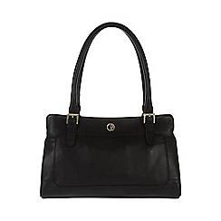 Pure Luxuries London - Black 'Abingdon' fine leather handbag