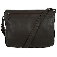 Pure Luxuries London - Brown 'Lawrence' natural leather messenger bag